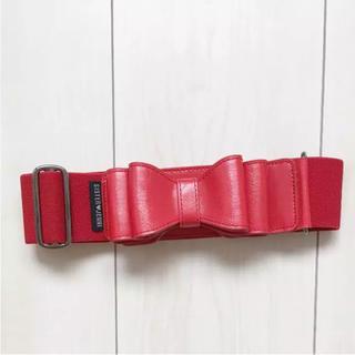ジェニィ(JENNI)のシスタージェニィ 未使用品♡ リボンベルト 赤(ベルト)