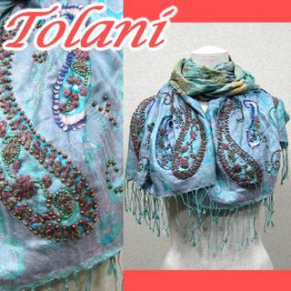 トラニ(Tolani)のトラニ TOLANI 大判 シルク ストール シルク100(ストール/パシュミナ)