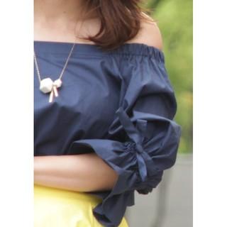 グラマラスガーデン(GLAMOROUS GARDEN)のコットン100% オフショル  (シャツ/ブラウス(半袖/袖なし))