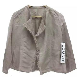 ルーニィ(LOUNIE)の新品LOUNIE リネン混ジャケット ¥22,000 サイズ36(ノーカラージャケット)