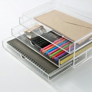 ムジルシリョウヒン(MUJI (無印良品))の無印良品 重なるアクリルケース 3段 メイクボックス 収納 IKEA(小物入れ)