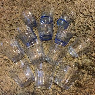 ムジルシリョウヒン(MUJI (無印良品))のシンプルなグラス11個セット⋆おうちバル🍻おうちカフェに(グラス/カップ)