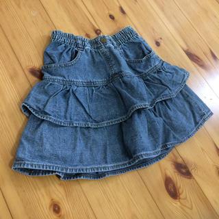 シマムラ(しまむら)のデニム フリル スカート パンツ 120 ジーンズ 女の子 ガールズ(スカート)