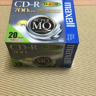マクセル(maxell)の新品・未使用❗️ maxell CD-R 700MB 20枚(PC周辺機器)