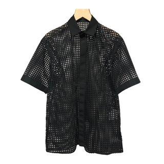 ジョンローレンスサリバン(JOHN LAWRENCE SULLIVAN)のJOHN LAWRENCE SULLIVAN カッティング メッシュシャツ(シャツ)