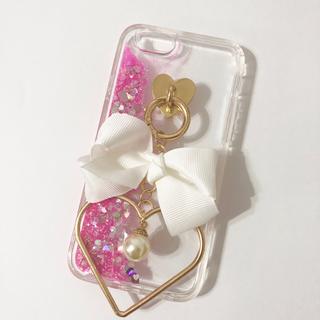 K♡様✩6(パール)※薄ピンク Dreamy Glitter♡(iPhoneケース)