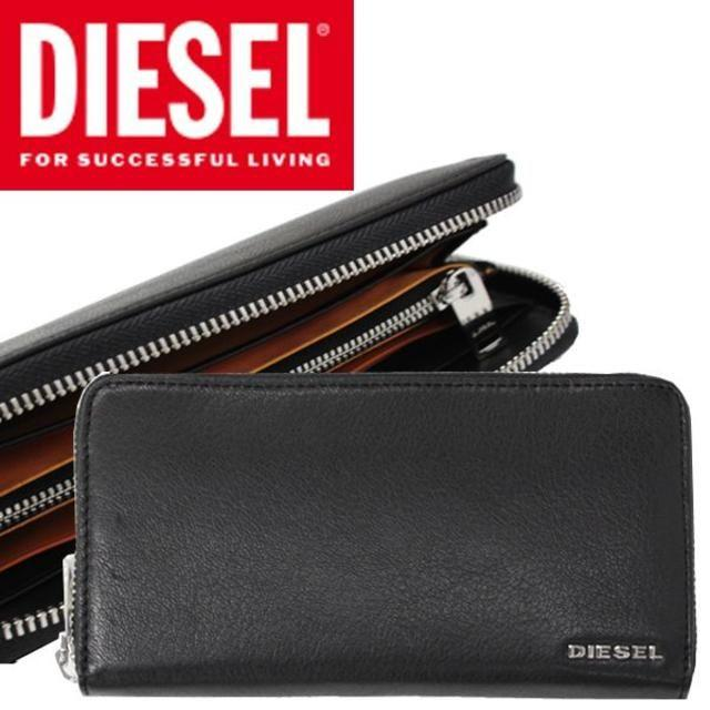 7564fc50ef1e DIESEL(ディーゼル)のDIESEL ディーゼル 長財布 メンズ ブラック シンプル メンズのファッション小物