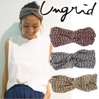 アングリッド(Ungrid)の【未使用】 ungrid 総柄ターバン(ヘアバンド)