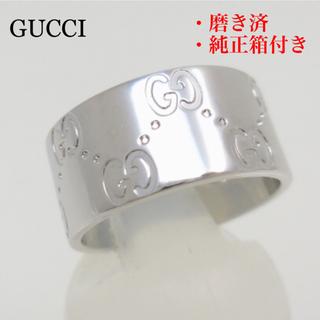 fb27de24e2a3 グッチ(Gucci)のGUCCI グッチ アイコンリング 750 ホワイトゴールド ♯12 磨き済
