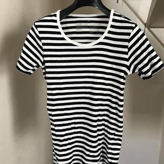 ムジルシリョウヒン(MUJI (無印良品))のmomo' sさま専用 無印良品 ボーダーカットソー レディースXS(Tシャツ(半袖/袖なし))
