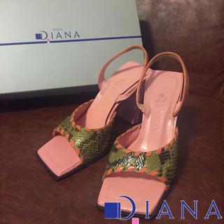 ダイアナ(DIANA)の正規品DIANA【手数料値上前セール】春色ピンクに可愛いクロコ☆(ハイヒール/パンプス)