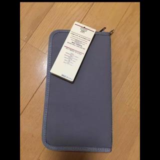 ムジルシリョウヒン(MUJI (無印良品))のパスポートケース 新品 無印良品 グレー(日用品/生活雑貨)