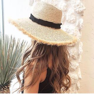 ルームサンマルロクコンテンポラリー(room306 CONTEMPORARY)の送料込み♡2018ss summer wide hat♡(麦わら帽子/ストローハット)