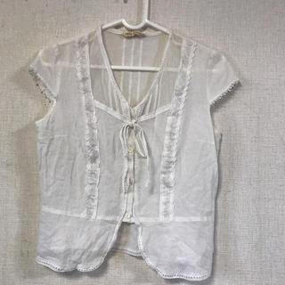 アーティショ(ARTI CHAUT)のARTI CHAUT・日本製☆レースデザインかわいいシャツ(シャツ/ブラウス(半袖/袖なし))