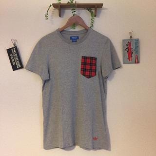アディダス(adidas)の古着/アディダス/ポケット付きTシャツ/メンズM(Tシャツ/カットソー(半袖/袖なし))