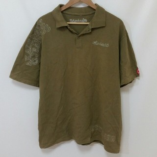 アカデミクス(AKADEMIKS)の【90s】AKADEMIKS JEANIUS ポロシャツ 緑 刺繍 USA古着(ポロシャツ)