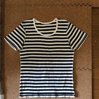 ムジルシリョウヒン(MUJI (無印良品))の無印良品 ボーダーカットソー(Tシャツ(半袖/袖なし))