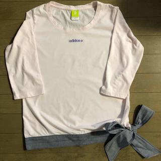アディダス(adidas)の2点で1割引き値下げ adidas リボンTシャツ (Tシャツ(長袖/七分))