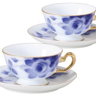 オオクラトウエン(大倉陶園)のthe ookura 大倉陶園 ブルーローズ カップ&ソー(グラス/カップ)