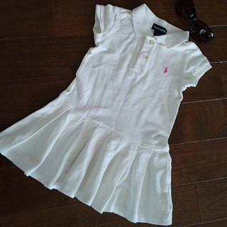 ラルフローレン(Ralph Lauren)の美品♡ラルフローレン サイズ4 110相当 ホワイト ポロシャツワンピース(ワンピース)