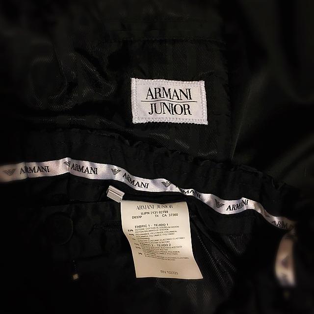 2ae5441913826 ARMANI JUNIOR(アルマーニ ジュニア)の☆ジョルジオ アルマーニ ジュニア☆男の子ブラックスーツ10A