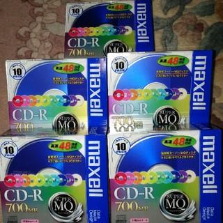 マクセル(maxell)の【新品・未開封】 日本製マクセル CD-R 700MB 10枚✕5(PC周辺機器)