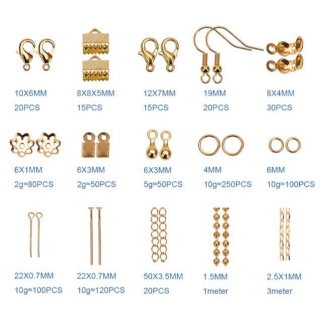 アクセサリー パーツ セット 金具 ハンドメイド 15種類 材料 手芸用品