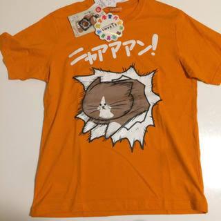 シマムラ(しまむら)のぽんた Tシャツ L オレンジ ニャアアアン 鴻池剛 新品未使用 しまむら(キャラクターグッズ)