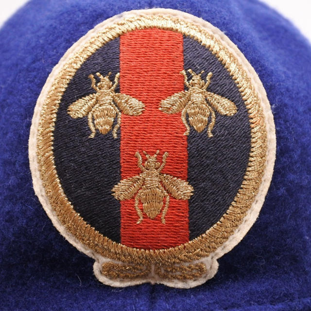 Gucci(グッチ)のグッチ GUCCI 帽子 ウール ネイビー メンズ L 59cm ビー BEE  メンズの帽子(キャップ)の商品写真