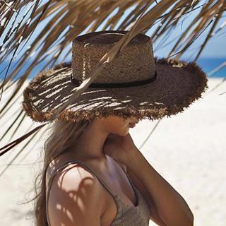 ルームサンマルロクコンテンポラリー(room306 CONTEMPORARY)の【room306】Summer Wide Boater Hat(麦わら帽子/ストローハット)