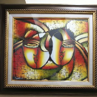 PICASSO ピカソ 油絵 【 DOUBLE Face 】1点物(絵画額縁)