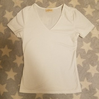 白★VネックTシャツ