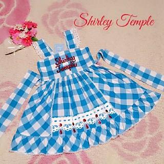 シャーリーテンプル(Shirley Temple)の♡231♡シャーリーテンプル♡ブロックチェック☆サンドレス♪♡120cm♡(ワンピース)