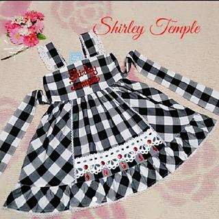 シャーリーテンプル(Shirley Temple)の♡232♡シャーリーテンプル♡ブロックチェック☆サンドレス♪♡120cm♡(ワンピース)