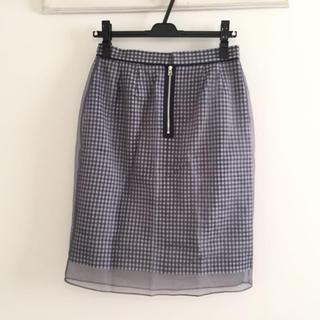 アクータ(Acuta)のAcuta アクータ 後ろジップ ギンガムチェック スカート(ひざ丈スカート)