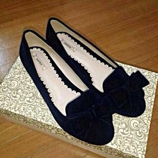 ランダ(RANDA)のRANDA リボンオペラシューズ(ローファー/革靴)