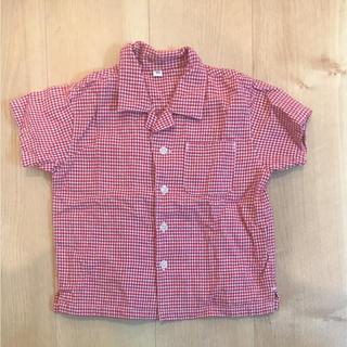 ムジルシリョウヒン(MUJI (無印良品))の美品  無印  オープンカラーシャツ  開襟シャツ   90(ブラウス)
