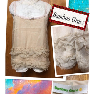 バンブーブラス(BAMBOO GRASS)の💖新品💖BAMBOO  GRASS💖上品なキャミソール💖3675円のお品(キャミソール)