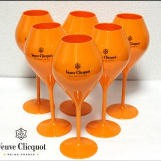 ドンペリニヨン(Dom Pérignon)の⭕️限定 ヴーヴクリコ シャンパングラス 六個入り(グラス/カップ)