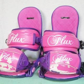 フラックス(FLUX)のFLUXフラックス スノーボード バインディング ML 紫ピンク(バインディング)