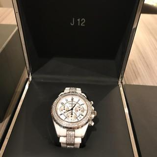 シャネル(CHANEL)のシャネルJ12クロノグラフ純正ダイヤベゼル メンズ🌸245万円🌸正規店購入品(腕時計(デジタル))