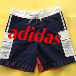 アディダス(adidas)のadidas ナイロン ハーフパンツ 水着 S ネイビー パンツ(ハーフパンツ)
