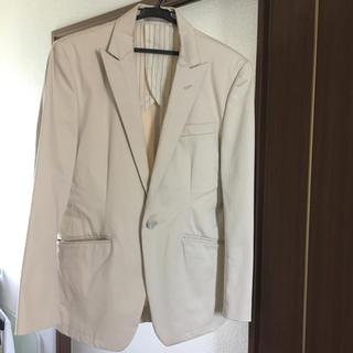 シーシーエム(CCM)のCCM ジャケット 長袖 オフホワイト Sサイズ(ノーカラージャケット)