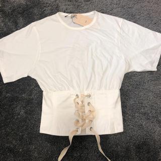 ザラ(ZARA)のZARA ザラ コルセットTシャツ 新品未使用タグ付(Tシャツ(半袖/袖なし))