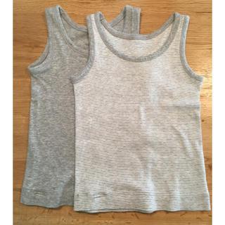 ムジルシリョウヒン(MUJI (無印良品))の無印良品 タンクトップ肌着 80サイズ 2枚組(肌着/下着)