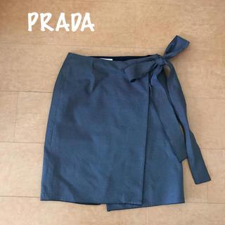 プラダ(PRADA)のプラダ ラップスカート(ひざ丈スカート)