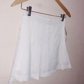 ロクロクガールズ(66girls)のホワイト テニススカート(ミニスカート)