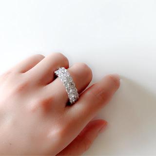 高級ジルコニアリングパヴェダイヤ(リング(指輪))