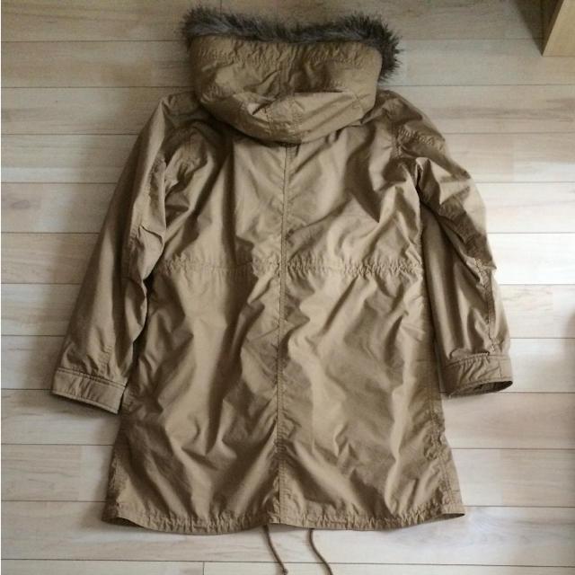 UNIQLO(ユニクロ)のユニクロ モッズコート ボア ミリタリー ファー レディースのジャケット/アウター(モッズコート)の商品写真