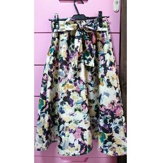 シマムラ(しまむら)のアベイル しまむら 花柄 スカート(ひざ丈スカート)